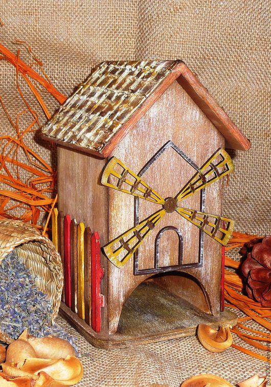 """Кухня ручной работы. Ярмарка Мастеров - ручная работа. Купить """"На старой мельнице"""" домик для чайных пакетиков. Handmade. Комбинированный"""