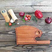 Посуда handmade. Livemaster - original item Board for filing steak and grill wood Axe series Bullfighting. Handmade.