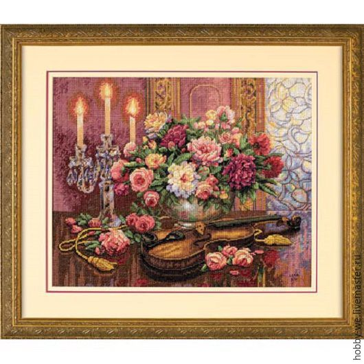 Вышивка ручной работы. Ярмарка Мастеров - ручная работа. Купить Набор для вышивания в ассортименте, DIMENSIONS. Handmade. Романтические цветы, бордовый