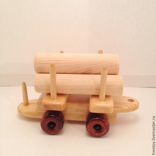 Техника ручной работы. Ярмарка Мастеров - ручная работа. Купить Вагон с бревнышками. Handmade. Деревянная игрушка, игрушка в подарок, транспорт