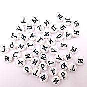 Материалы для творчества ручной работы. Ярмарка Мастеров - ручная работа Бусины акриловые Алфавит. Handmade.