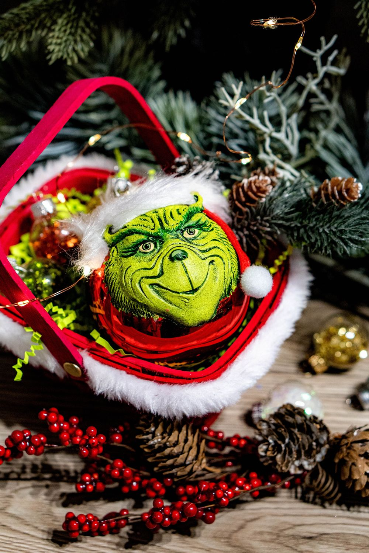 Елочный шар игрушка Гринч похититель Рождества, новогодние игрушки, Елочные игрушки, Москва,  Фото №1