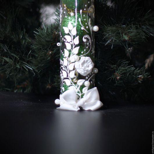 """Новый год 2017 ручной работы. Ярмарка Мастеров - ручная работа. Купить Набор из 6 елочных шаров """"Белая роза"""". Handmade."""