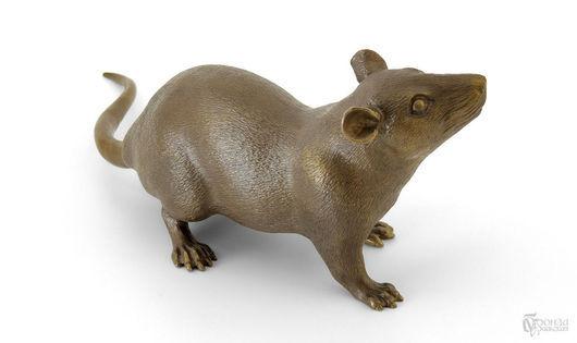 Статуэтки ручной работы. Ярмарка Мастеров - ручная работа. Купить Крыса. Handmade. Крыса, Литье, статуэтка, скульптура, бронзовая статуэтка