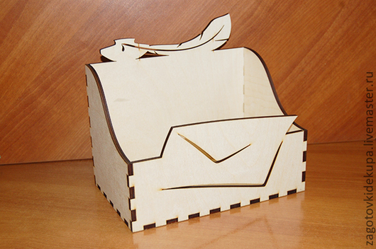 Шкатулка для писем  (продается в разобранном виде) Размер: 26х24х17 см  Материал: фанера 6 мм