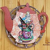 """Для дома и интерьера ручной работы. Ярмарка Мастеров - ручная работа """"Выпей меня!"""", часы-чайник. Handmade."""