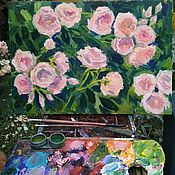 Картины и панно handmade. Livemaster - original item Paintings: roses in the garden. Handmade.
