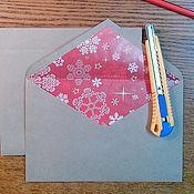 Открытки ручной работы. Ярмарка Мастеров - ручная работа Крафт конверт. Handmade.
