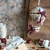 Для дома и интерьера ручной работы. Ярмарка Мастеров - ручная работа Воздушный шар - Цветочный сад - подвес. Handmade.