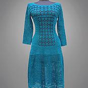 Одежда handmade. Livemaster - original item Crochet dress Silvia. Seagreen handmade lace women crochet dress. Handmade.