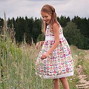 """Работы для детей, ручной работы. Ярмарка Мастеров - ручная работа Платье """"Матрешки расписные"""". Handmade."""