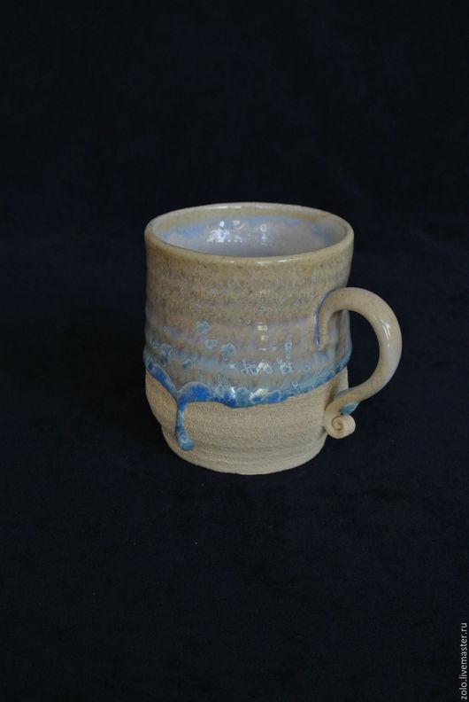 Кружки и чашки ручной работы. Ярмарка Мастеров - ручная работа. Купить Кружка, белый шамот + кристаллы. Handmade. Белый