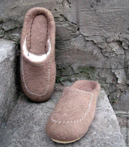 Обувь ручной работы. Ярмарка Мастеров - ручная работа. Купить Мужские тапочки 42р. Handmade. Оливковый, подарок мужчине