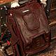 """Рюкзаки ручной работы. Ярмарка Мастеров - ручная работа. Купить Рюкзак кожаный """"Пески Марса"""". Handmade. Бордовый, рюкзак кожаный"""