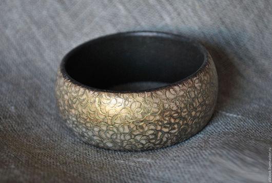 Браслеты ручной работы. Ярмарка Мастеров - ручная работа. Купить деревянный браслет Золотое руно. Handmade. Золотой, бохо