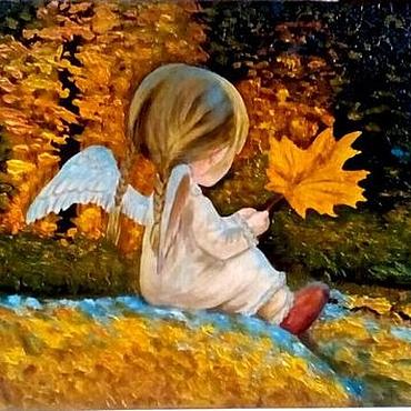 Картины и панно ручной работы. Ярмарка Мастеров - ручная работа Картина в технике объемной живописи Маленький ангелочек. Handmade.