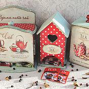 """Для дома и интерьера ручной работы. Ярмарка Мастеров - ручная работа Чайный набор """"Мы посидим с тобой за чашкой чая"""". Handmade."""
