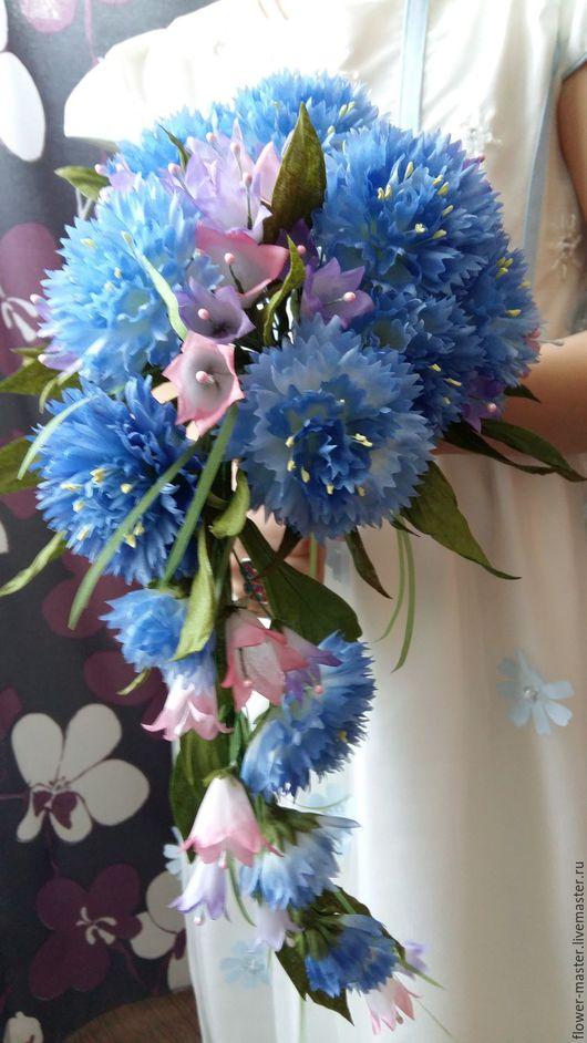 Свадебные цветы ручной работы. Ярмарка Мастеров - ручная работа. Купить Букет невесты с васильками и колокольчиками. Handmade. Букет на свадьбу