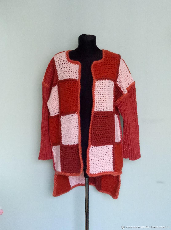Knit coat 'Peach caramel', Coats, Moscow,  Фото №1