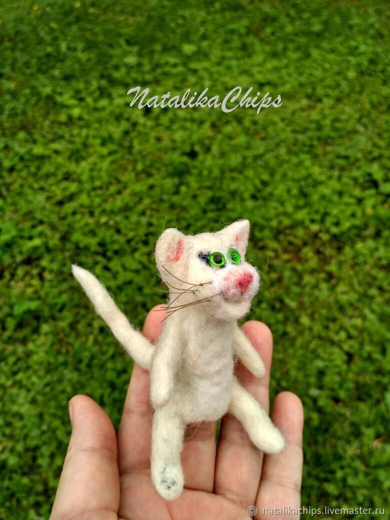 Кот белый, Куклы, Москва, Фото №1