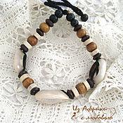 Украшения handmade. Livemaster - original item Bracelets with three shells Kauri landscape. Handmade.