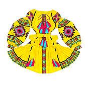 """Одежда handmade. Livemaster - original item Короткое платье с клиньями """"Лесная Песня"""". Handmade."""