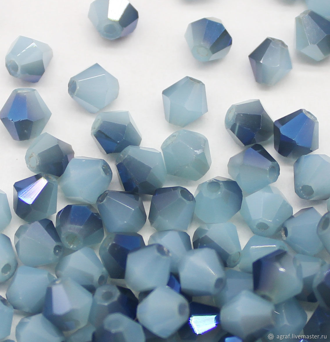Beads: Crystal beacons 4 mm Before a thunderstorm 10 pieces, Beads1, Solikamsk,  Фото №1