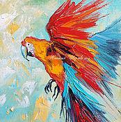 """Картины и панно ручной работы. Ярмарка Мастеров - ручная работа Картина с попугаем """"Стремящийся к Свету"""" (холст, масло). Handmade."""