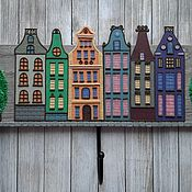 Для дома и интерьера handmade. Livemaster - original item Housekeeper-hanger Amsterdam 6. The housekeeper wall.. Handmade.