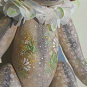 Куклы и игрушки ручной работы. Ярмарка Мастеров - ручная работа Ромашкин мишка тедди с росписью. Handmade.