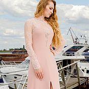 Одежда ручной работы. Ярмарка Мастеров - ручная работа Платье вечернее, розовое. Арт. 1430. Handmade.