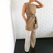 Одежда ручной работы. Ярмарка Мастеров - ручная работа Жилет из пальтовой ткани на заказ. Handmade.