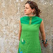 """Одежда ручной работы. Ярмарка Мастеров - ручная работа Платье-бохо """" Оттенки зеленого"""". Handmade."""