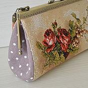 Clasp Bag handmade. Livemaster - original item cosmetic bag with a clasp Roses. Handmade.