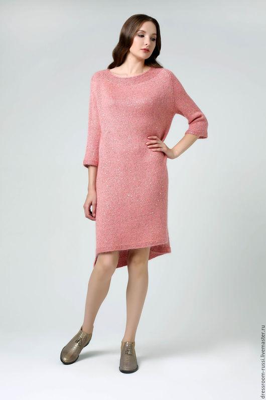 Платья ручной работы. Ярмарка Мастеров - ручная работа. Купить Платье нежно розового цвета.. Handmade. Бледно-розовый