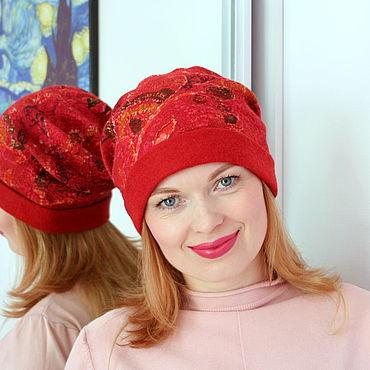 Accessories handmade. Livemaster - original item Caps: Hat felted feminine. Handmade.
