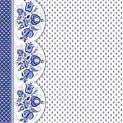 """Материалы для творчества ручной работы. Ярмарка Мастеров - ручная работа Хлопколён """"Гжель"""". Handmade."""