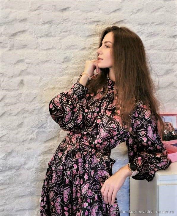 Вечернее платье из натурального шелка, Платья, Москва,  Фото №1