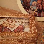 """Для дома и интерьера ручной работы. Ярмарка Мастеров - ручная работа Шкатулка """"Мишки Тедди"""". Handmade."""