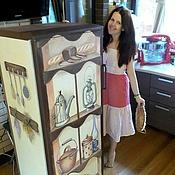 Дизайн и реклама ручной работы. Ярмарка Мастеров - ручная работа Роспись холодильника - Шкаф. Handmade.