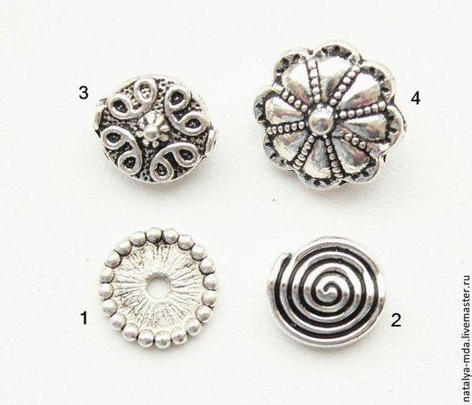 Для украшений ручной работы. Ярмарка Мастеров - ручная работа. Купить Бусины металлические античное серебро С-11. Handmade.