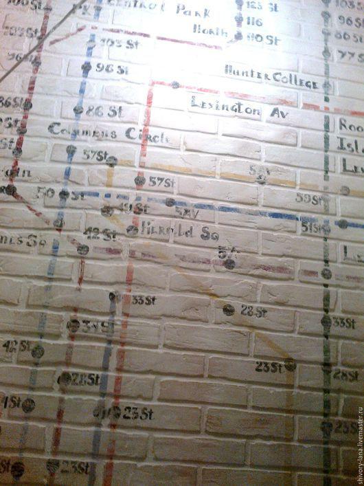 Декор поверхностей ручной работы. Ярмарка Мастеров - ручная работа. Купить отделка стен для лофт и индустриального стиля. Handmade. Стены