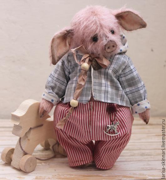 Мишки Тедди ручной работы. Ярмарка Мастеров - ручная работа. Купить Робинсон. Handmade. Бледно-розовый, игрушка ручной работы