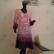 Одежда ручной работы. Ярмарка Мастеров - ручная работа Платье Сиреневый каприз 3. Handmade.