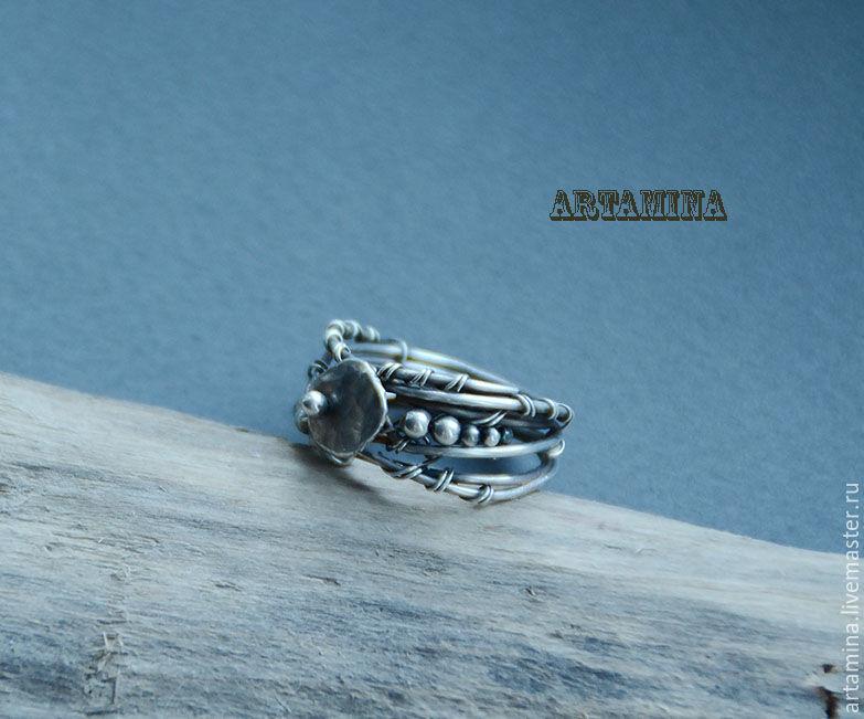 Кольца ручной работы. Ярмарка Мастеров - ручная работа. Купить Серебряное кольцо. Handmade. Wire wrap, Кольцо унисекс