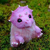 Куклы и игрушки ручной работы. Ярмарка Мастеров - ручная работа Динозавр Трикси Трицератопс Динозаврик игрушка. Handmade.
