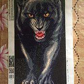 Картины и панно ручной работы. Ярмарка Мастеров - ручная работа Черная пантера 24х54. Handmade.