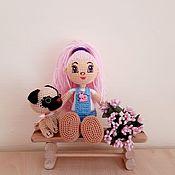 Куклы и пупсы ручной работы. Ярмарка Мастеров - ручная работа Куколка вязаная с собачкой. Handmade.