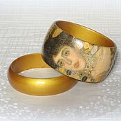Украшения handmade. Livemaster - original item Gold bracelets from the tree of the Golden Adele Klimt. decoupage tree. Handmade.