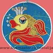 Для дома и интерьера ручной работы. Ярмарка Мастеров - ручная работа Подставка под горячее Золотая рыбка. Handmade.